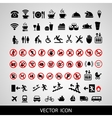 Set social icons on a white background vector image