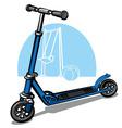 children scooter vector image