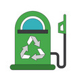 green fuel dispenser vector image