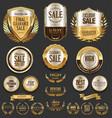 luxury golden labels retro vintage collection 1 vector image