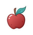 cartoon apple on the white background vector image