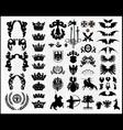 heraldic silhouettes vector image