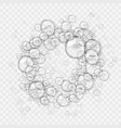 abstract foam water bubbles isolated on light vector image vector image