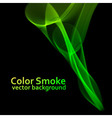 Abstract green smoke background vector image vector image