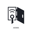 access isolated icon simple element from smart vector image vector image