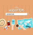 adventure search graphic for vacation vector image vector image