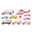 ambulance car emergency ambulance-service vector image