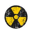 atomic radiation radioactive sign icon grunge vector image vector image