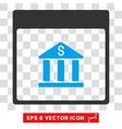 Bank Building Calendar Page Eps Icon vector image