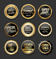 black and gold badges super sale collection 03 vector image