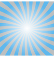 Blue rays poster star shine wavy vector image vector image