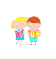 boy and girl reading book clip art vector image vector image