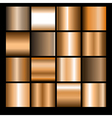 bronze gradients vector image vector image