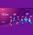 business people teamwork concept vector image vector image