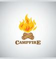campfire mountain adventure logo vector image vector image