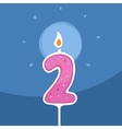 Candle Two Years vector image vector image