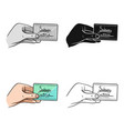 card single icon in cartoon stylecard vector image vector image