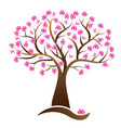 cherry lotus blossom tree logo image vector image