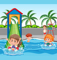 children at water park vector image vector image