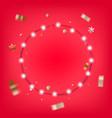 christmas illuminated garland card vector image