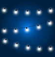 Christmas Lights - festive light bulbs garland on vector image vector image