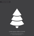 Christmas tree premium icon white on dark backgrou vector image vector image