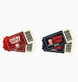 cinema or movie tickets set retro ticket to vector image