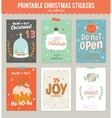Collection of 6 Christmas gift tags and cards vector image vector image