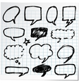 Collection of hand-drawn black pen on paper vector image vector image