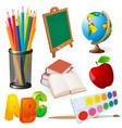 collection school supplies vector image