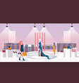 concept of woman ready to wear shop flat vector image