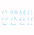 contoured cartoon tear drops and puddles set vector image vector image