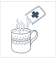 Cough and cold instant hot drink vector image vector image