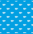cup pattern seamless blue vector image vector image