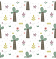 cute seamless pattern with funny palms vector image