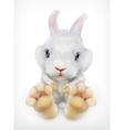 Cute white rabbit icon vector image vector image