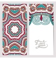 decorative label card for vintage design ethnic vector image vector image