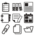 Document Office Icons vector image vector image