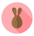 Easter Bunny Egg Shaped Circle Icon vector image vector image