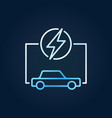 electric car with lightning colorful icon ev vector image vector image