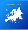 europe day 9th may concept map european vector image vector image