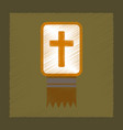 flat shading style icon bible book vector image vector image
