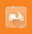flat style moto scooter silhouette icon vector image vector image