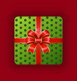 gift for holiday package decorated with ribbon vector image