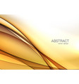 gold color abstract transparent wave design vector image