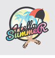 Hello Summer Badge Design vector image