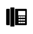 Home phone icon Flat design vector image