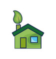 house with ecological leaf to environment care vector image vector image