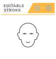 human head line icon vector image vector image