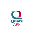 icon quote app vector image